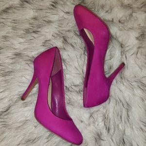 Jessica Simpson Hot Pink Suede Heel